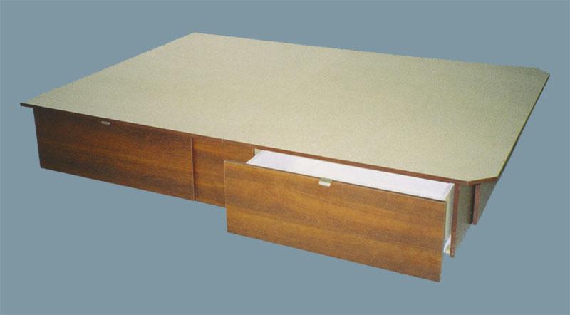 Matelas conseils plateformes nouveau concept lit plateforme avec 4 tiroir - Lit double avec tiroir pour matelas ...